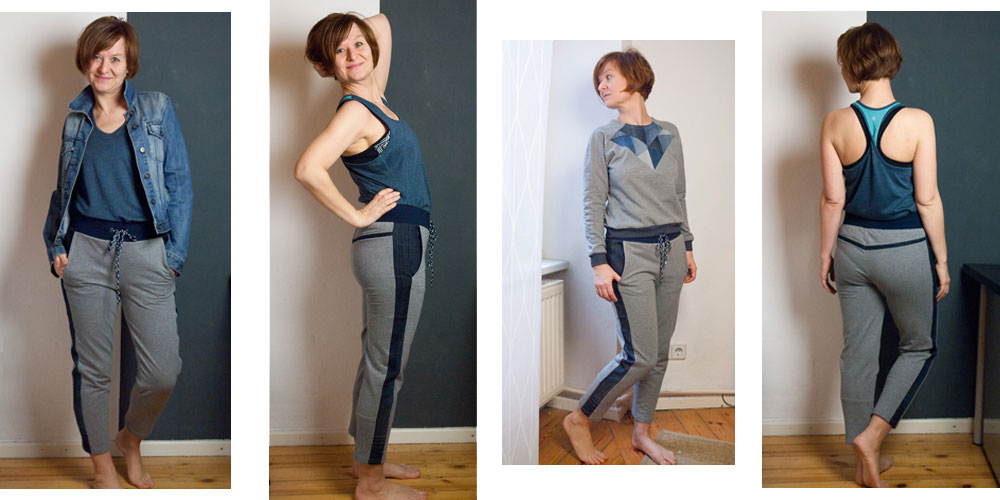 Upcycling Stories #2 – Jogginghose mit Jeans Details