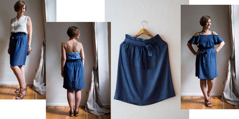 Blitzschnell genäht: Paperbag Waist Skirt