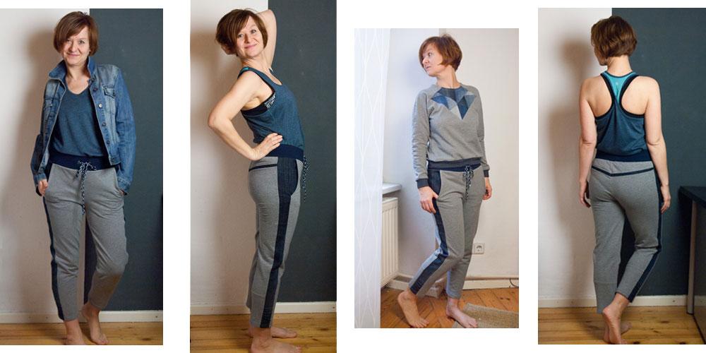 Upcycling Stories #2 – Jogginghose mit Jeans Details
