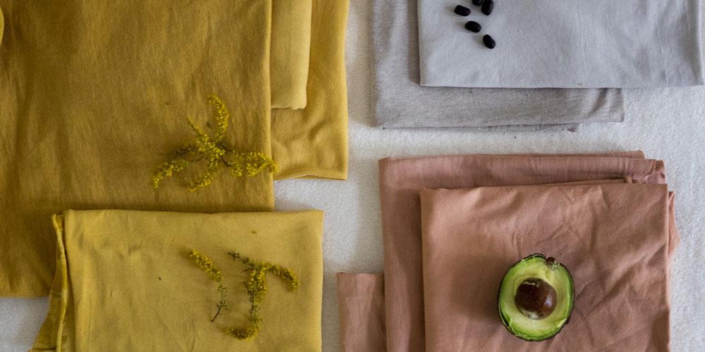Stoffe färben mit Pflanzen